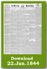 Derry Journal Download Archive front page
