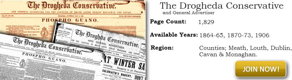 Drogheda Conservative Historical newspaper Image
