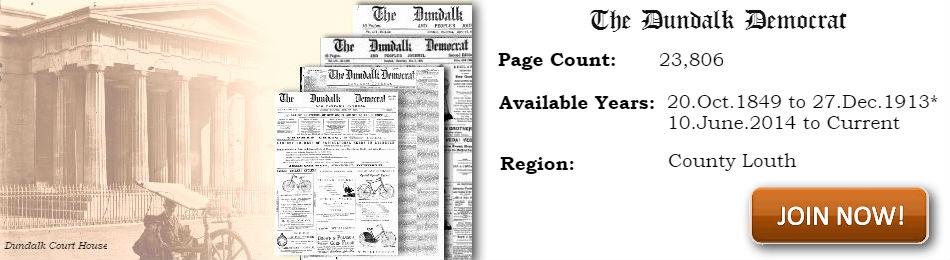 Dundalk Democrat archive on Irish Newspaper Archives