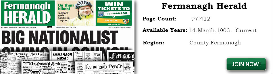 Fermanagh Herald archive newspaper 1903 to current
