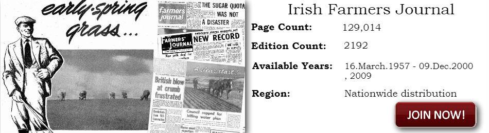 Irish Farmer Journal 1957 - 2000 ARCHIVE