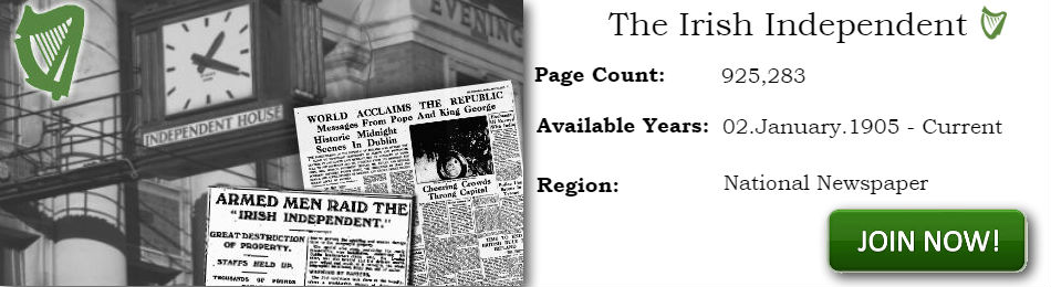 Irish Independent Newspaper Archives 1905 Current day