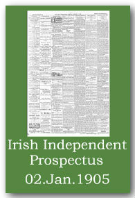 Irish Independent First edition prospectus