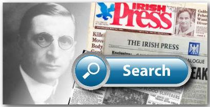The Irish Press Search bar subscribe link