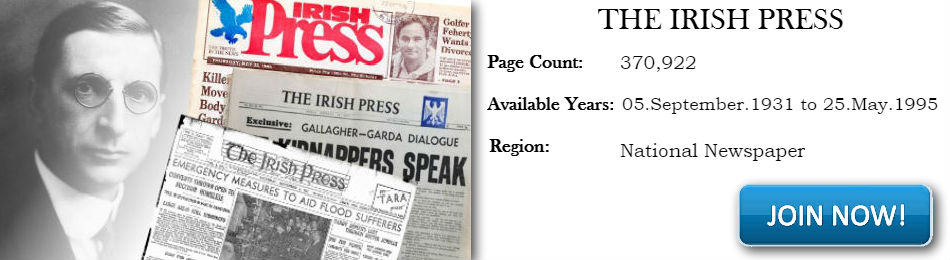 Irish Press Newspaper Archive now available from 1931 - 1995