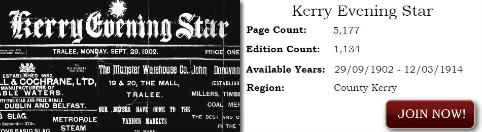 Kerry Evening Star 1902 - 1914 Newspaper Archive
