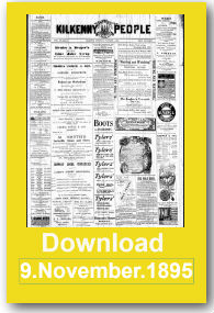The Kilkenny People front page ready for download 1895