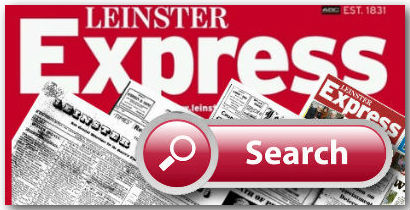 Leinster Express Search block from the Leinster Express Newspaper Archive