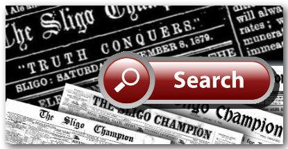 The Sligo Champion newspaper archive logo for Irish News Archives