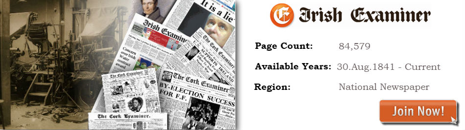 Irish Examiner and Cork Examiner Newspaper Archive now available