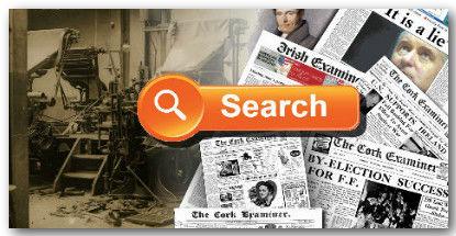 Irish Examiner and Cork Examiner Newspaper Archive search block